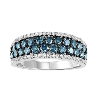 14K Blue & White Diamond Band 1 1/3 ctw