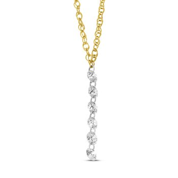 "14K Yellow Gold Dangle Necklace with 18"" Chain"