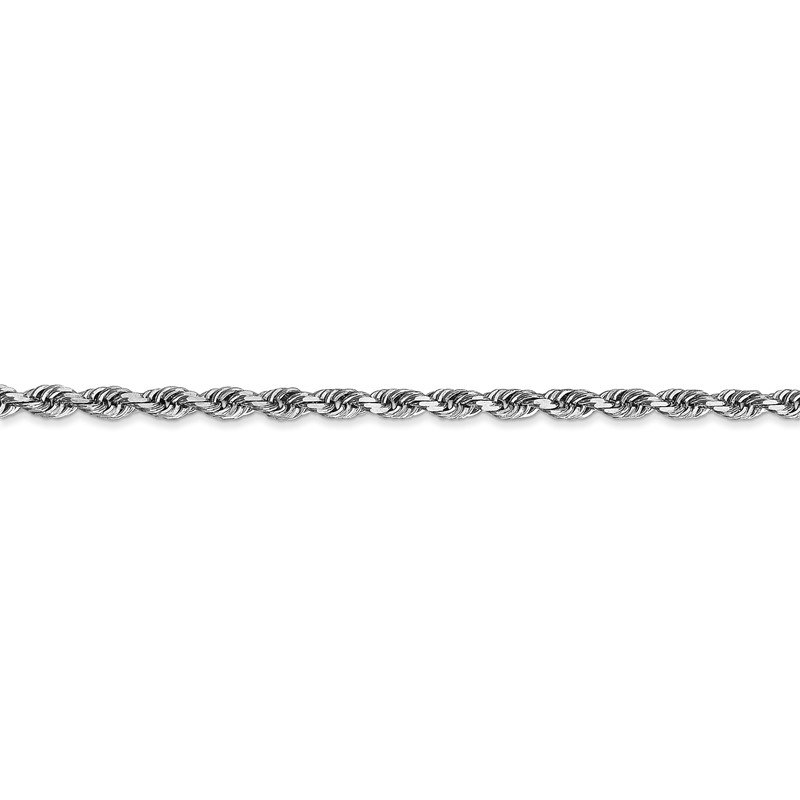 Quality Gold 10k White Gold 3mm D/C Quadruple Rope Chain