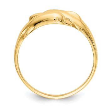 14k Double Dolphin Ring