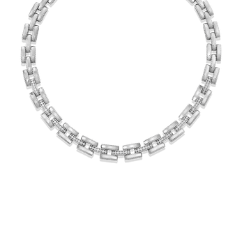 Retro Link Collar With Diamond Connectors