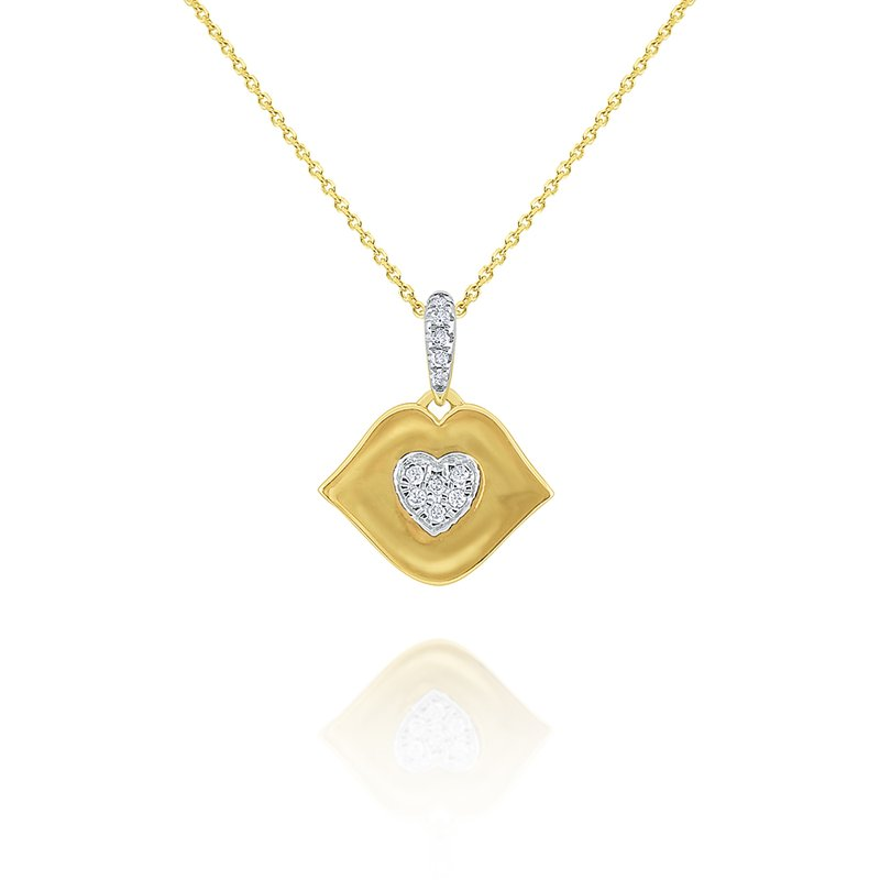 KC Designs 14k Gold and Diamond Kiss Necklace