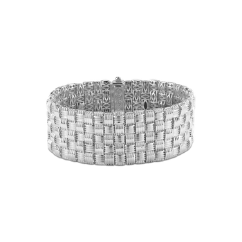 18Kt Gold 5 Row Bracelet With Diamonds