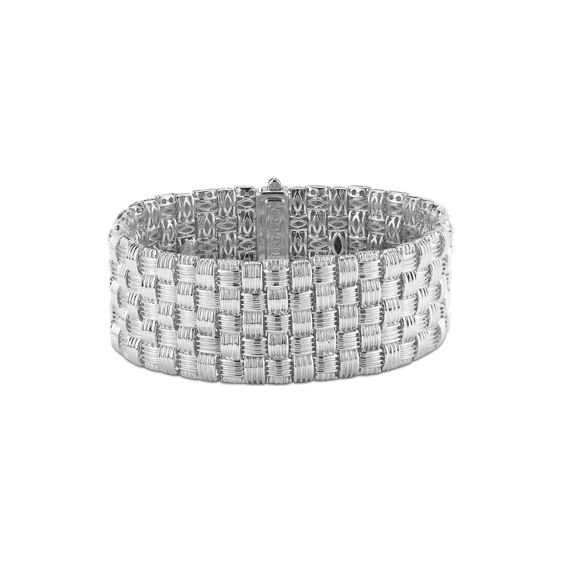 Roberto Coin 18Kt Gold 5 Row Bracelet With Diamonds