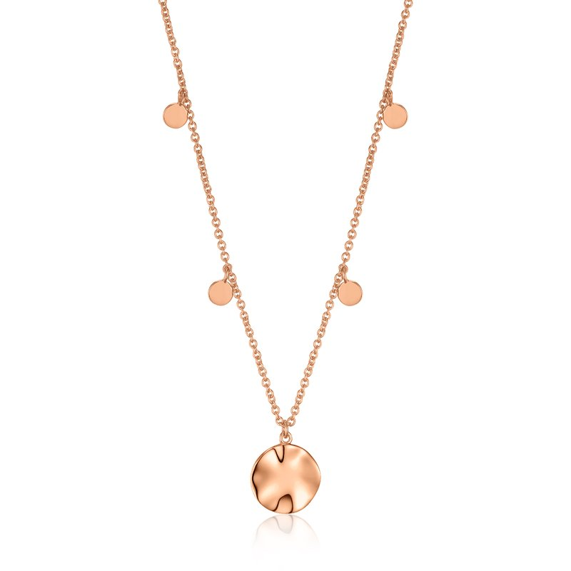 Ania Haie Ripple Drop Discs Necklace