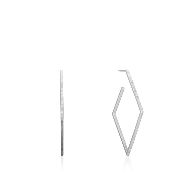 Ania Haie Texture Diamond Hoop Earrings
