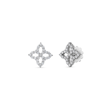 18KT MEDIUM DIAMOND OUTLINE STUD EARRING