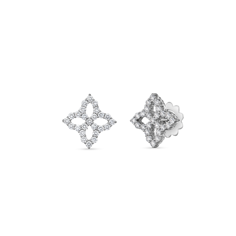 Roberto Coin 18Kt Medium Diamond Outline Stud Earring