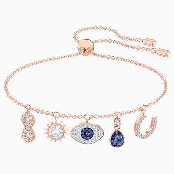Swarovski Symbolic Bracelet, Multi-colored, Rose-gold tone plated