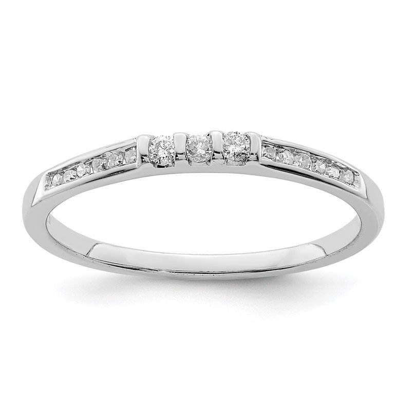 Quality Gold Sterling Silver Rhodium Plated Diamond Ring