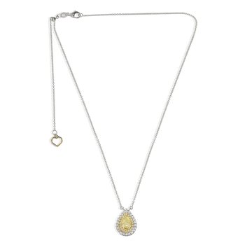Two Tone Diamond Drop Necklace