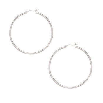 10K Gold 2x50mm Hoop Earring