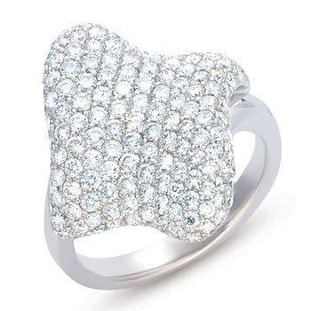 White Gold Diamond M.pave Ring