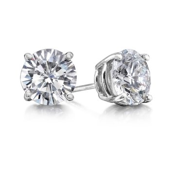 4 Prong 1 1/2 Ctw. Diamond Stud Earrings