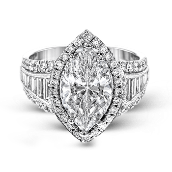 LR1164-MQ ENGAGEMENT RING