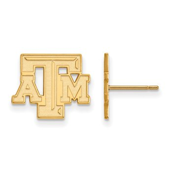 Gold-Plated Sterling Silver Texas A&M University NCAA Earrings