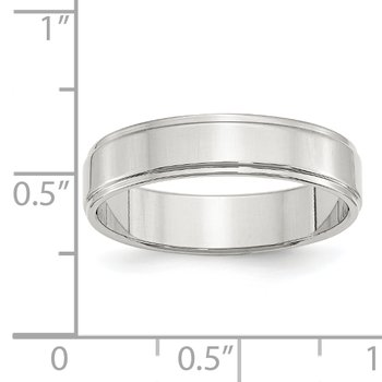 SS 5mm Flat w/ Step Edge Size 10 Band
