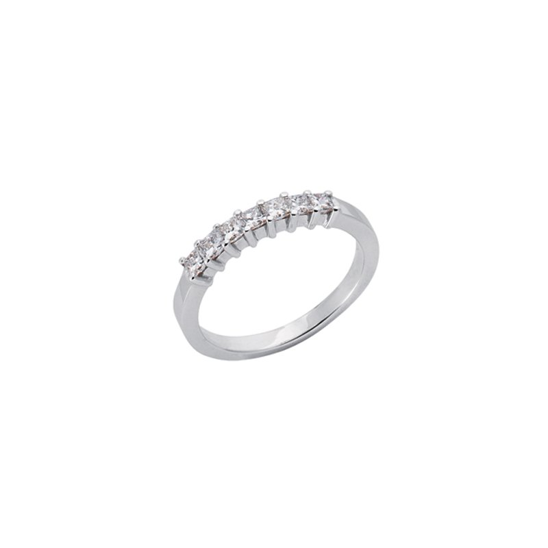 MAZZARESE Bridal White Gold Princess Band