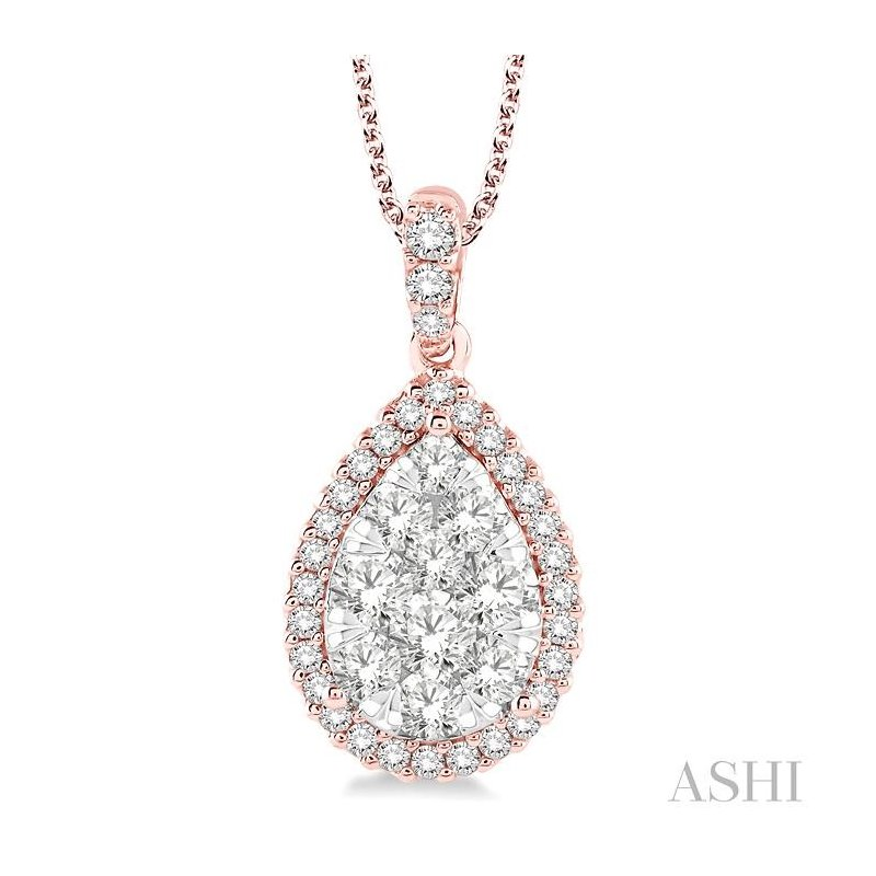 Barclay's Signature Collection pear shape lovebright essential diamond pendant