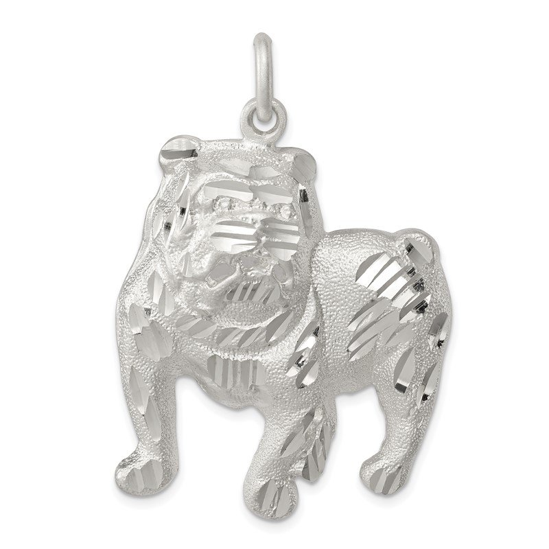 Quality Gold Sterling Silver Bull Dog Charm