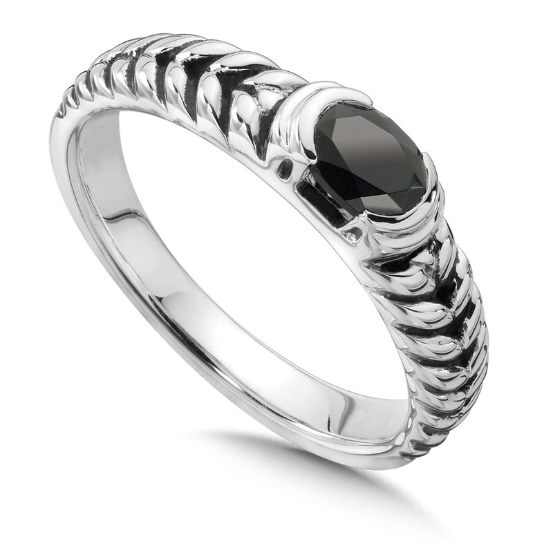 Colore Sg Sterling Silver Onyx Essentials Ring