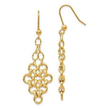 Leslie's 14K Polished D/C Fancy Dangle Earrings