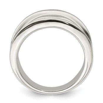 Sterling Silver 15mm Tapered Ring