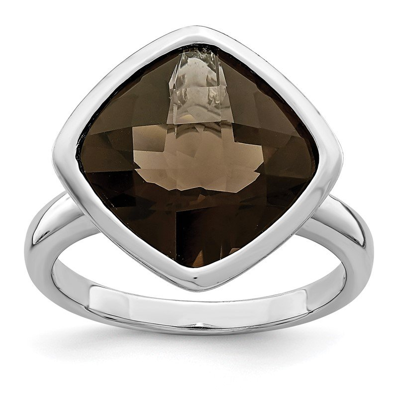 J.F. Kruse Signature Collection Sterling Silver Rhodium Smoky Quartz Ring