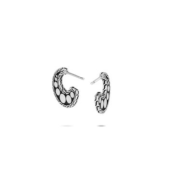 Dot Extra Small Hoop Earring in Silver