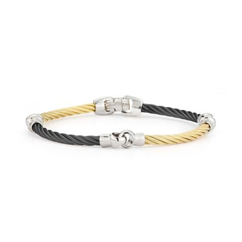 Black & Yellow Cable Interlocking Bracelet