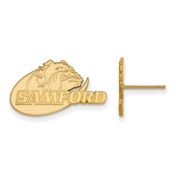 Gold Samford University NCAA Earrings