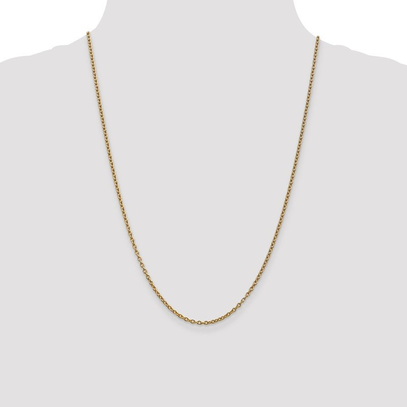 Quality Gold 14k 2.4mm Round Open Link Cable Chain