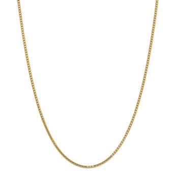 14k 1.9mm Box Chain