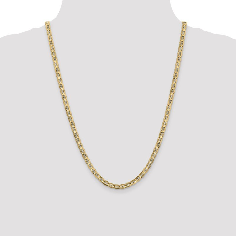 Quality Gold 14k 4.5mm Concave Anchor Chain