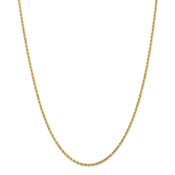 14k 2mm Diamond-cut Rope Chain Anklet