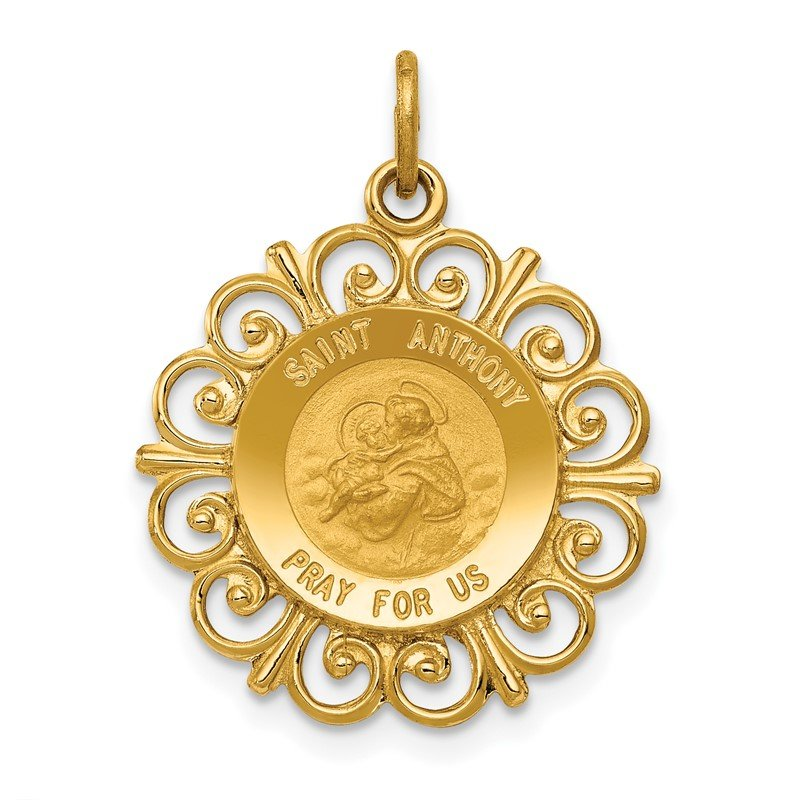 Quality Gold 14k Saint Anthony Medal Charm
