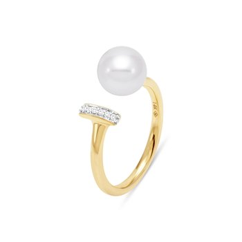 Linear Pearl Ring