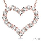 ASHI heart shape diamond necklace