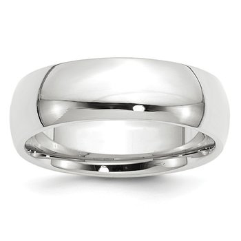 14k White Gold 7mm Comfort-Fit Band