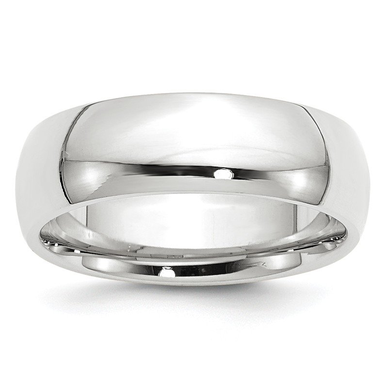 Quality Gold 14k White Gold 7mm Comfort-Fit Band