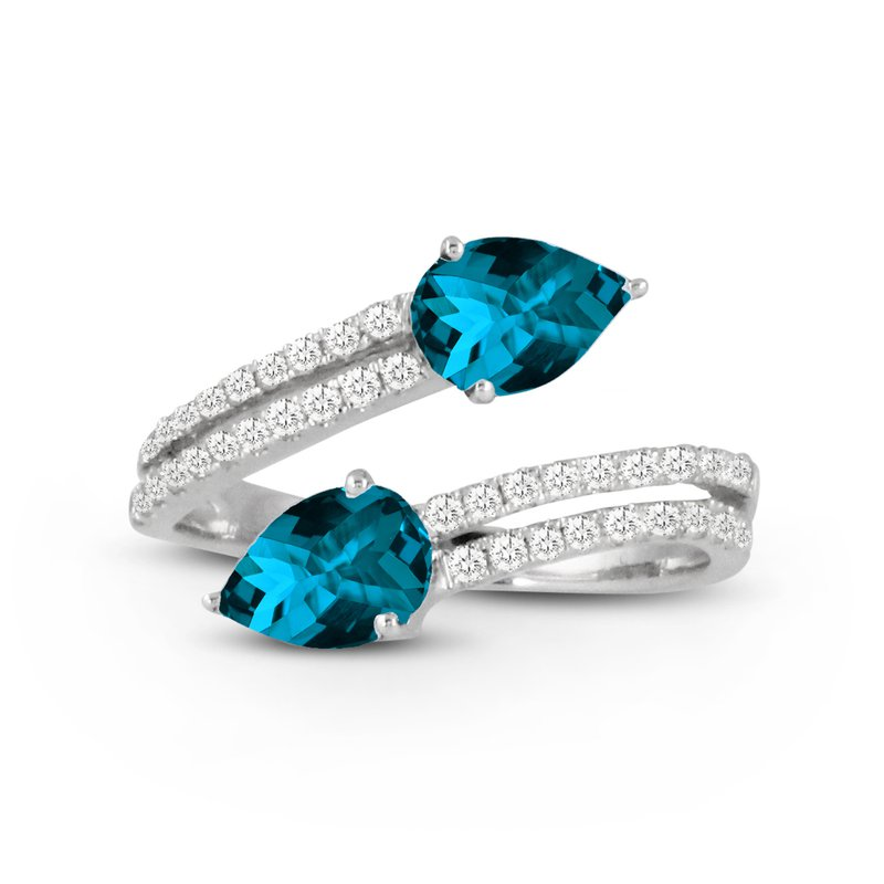 Doves London Blue Bypass Diamond Ring 18KW