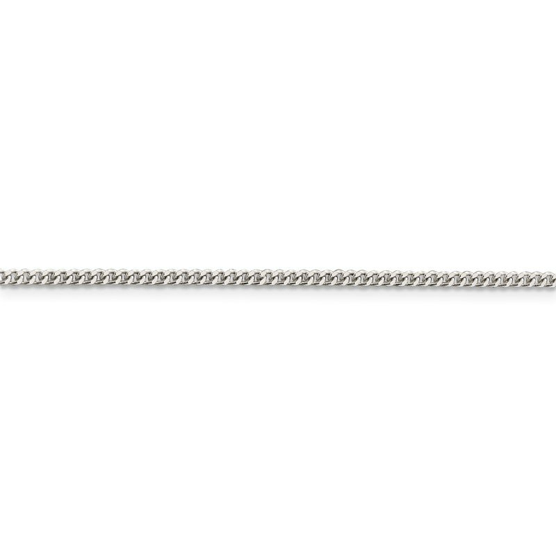 Quality Gold Sterling Silver Rhodium-plated 2mm Curb Chain