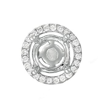 Diamond Pendant halo for .75ct center