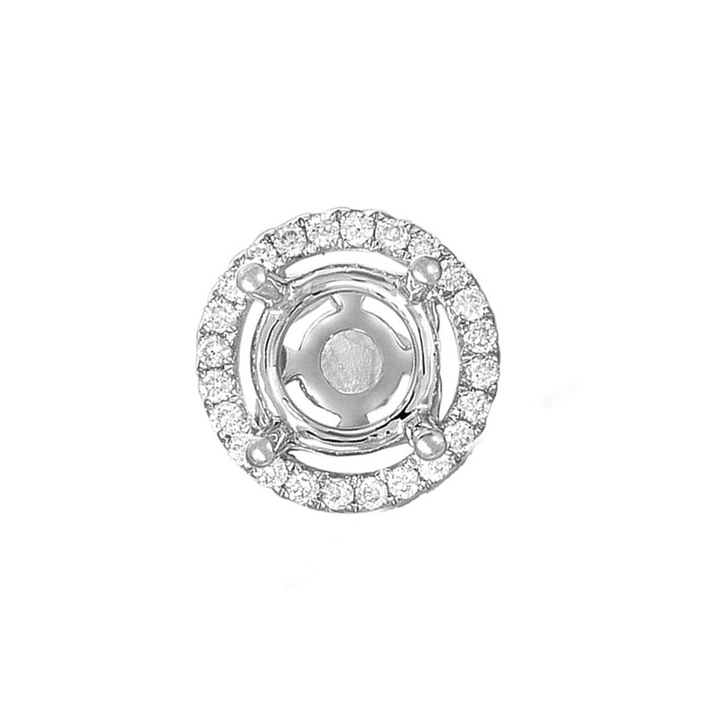 S. Kashi  & Sons Diamond Pendant halo for .75ct center