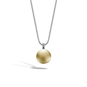 Dot Hammered Enhancer in Silver and 18K Gold