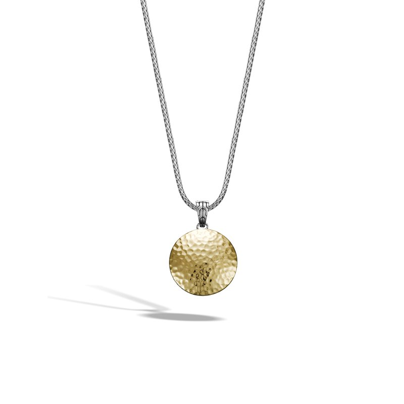 JOHN HARDY Dot Hammered Enhancer in Silver and 18K Gold
