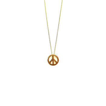 18KT GOLD GOLD PEACE SIGN PENDANT