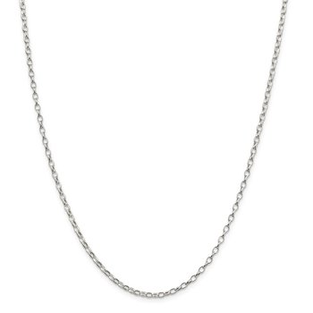 Sterling Silver 2.5mm Oval Fancy Rolo Chain
