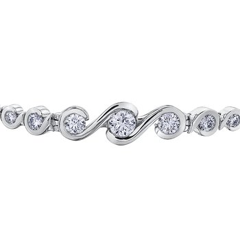 Maple Leaf Diamond Tides of Love Tennis Bracelet