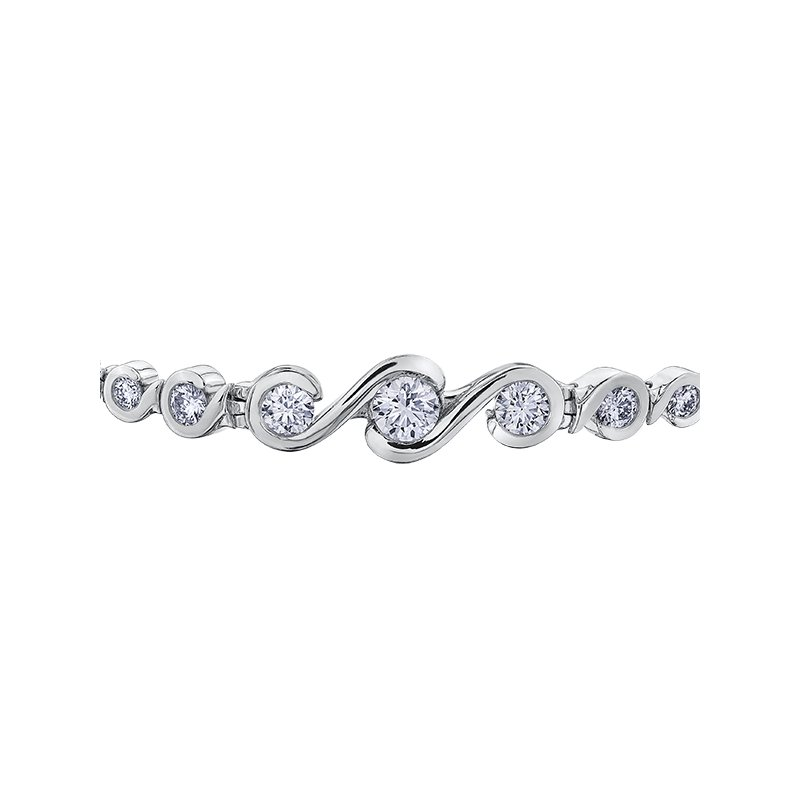 Maple Leaf Diamonds Maple Leaf Diamond Tides of Love Tennis Bracelet